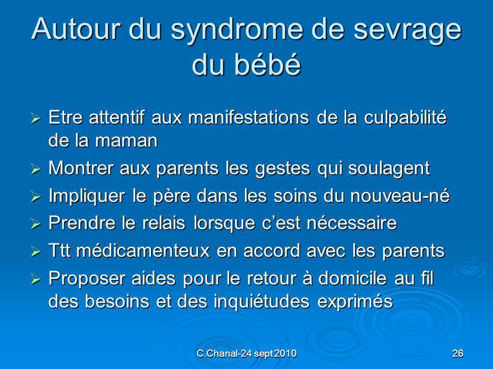 Autour du syndrome de sevrage du bébé