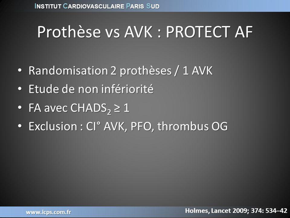Prothèse vs AVK : PROTECT AF