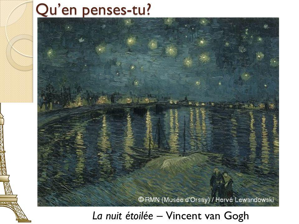 La nuit étoilée – Vincent van Gogh