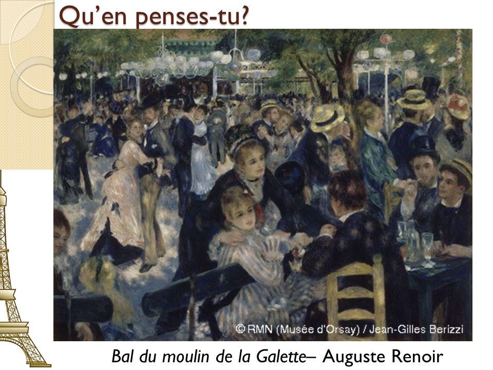 Bal du moulin de la Galette– Auguste Renoir