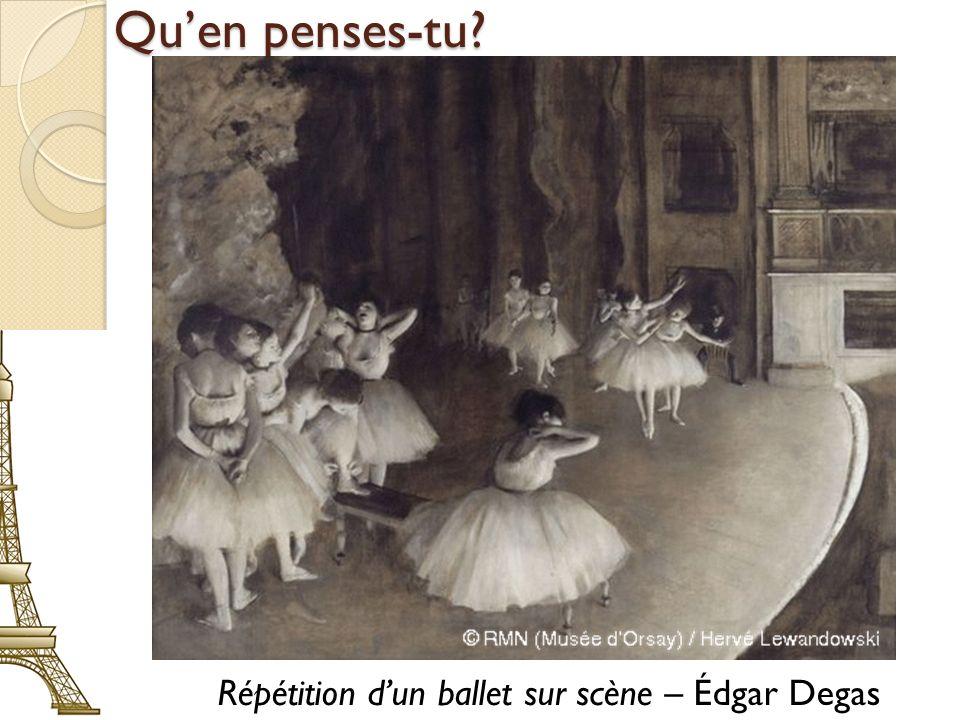 Répétition d'un ballet sur scène – Édgar Degas