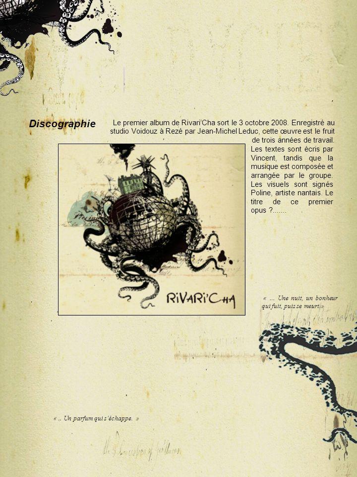 Le premier album de Rivari'Cha sort le 3 octobre 2008