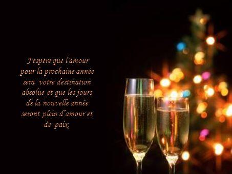 J espère que l amour pour la prochaine année sera votre destination absolue et que les jours de la nouvelle année seront plein d'amour et de paix.