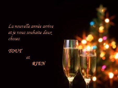 La nouvelle année arrive et je vous souhaite deux choses