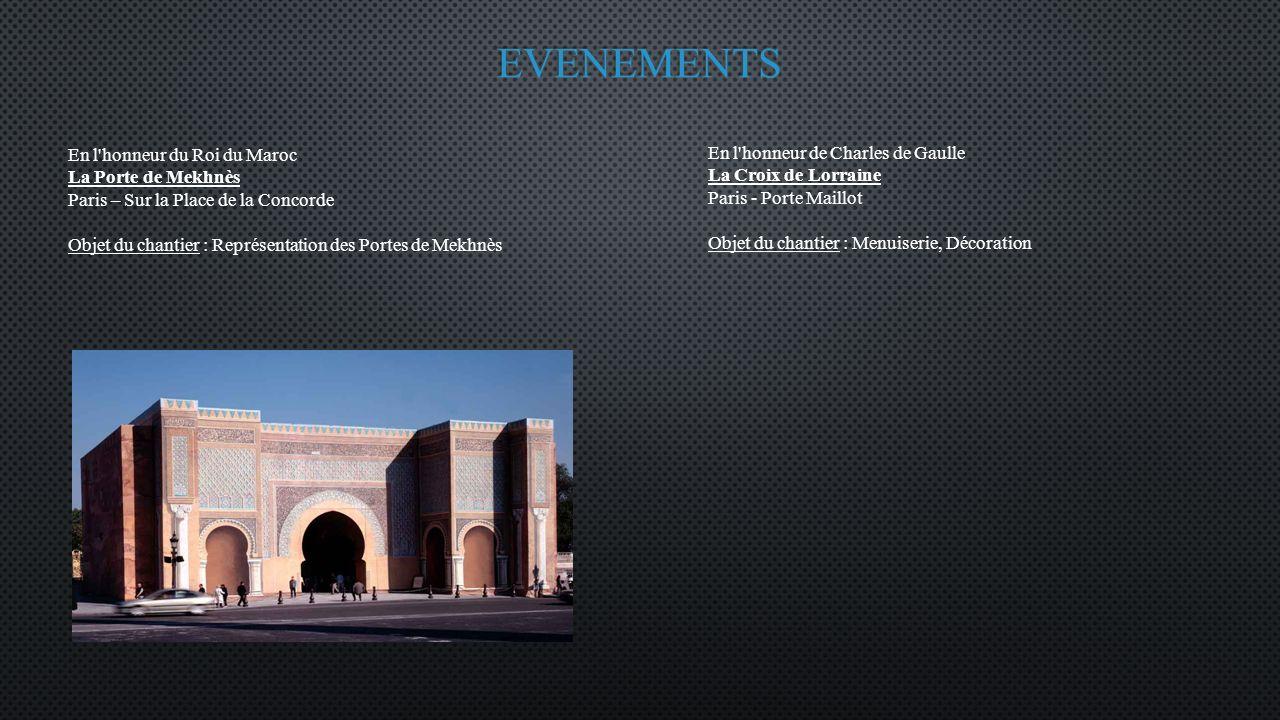 EVENEMENTS En l honneur du Roi du Maroc