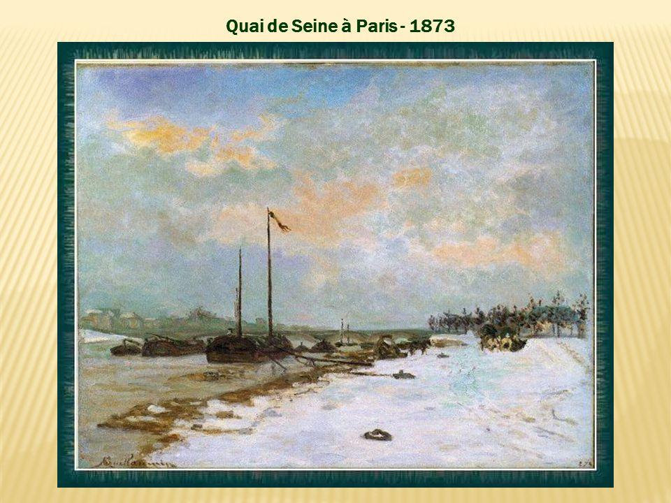Quai de Seine à Paris - 1873