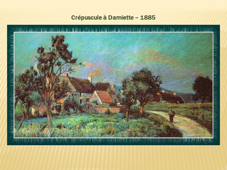 Crépuscule à Damiette – 1885