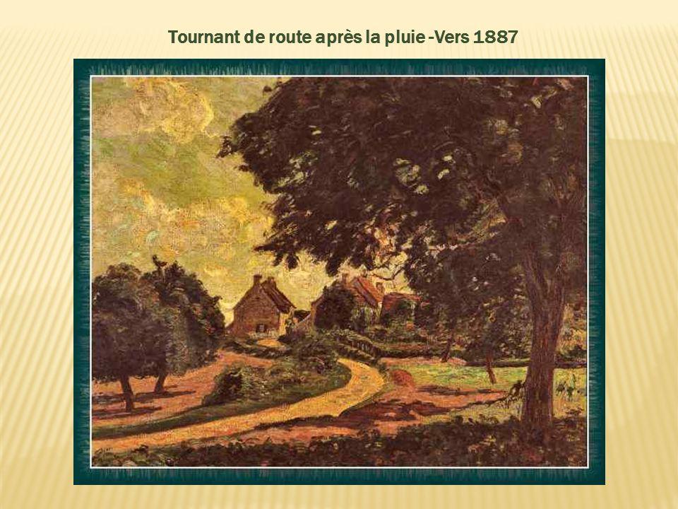 Tournant de route après la pluie -Vers 1887