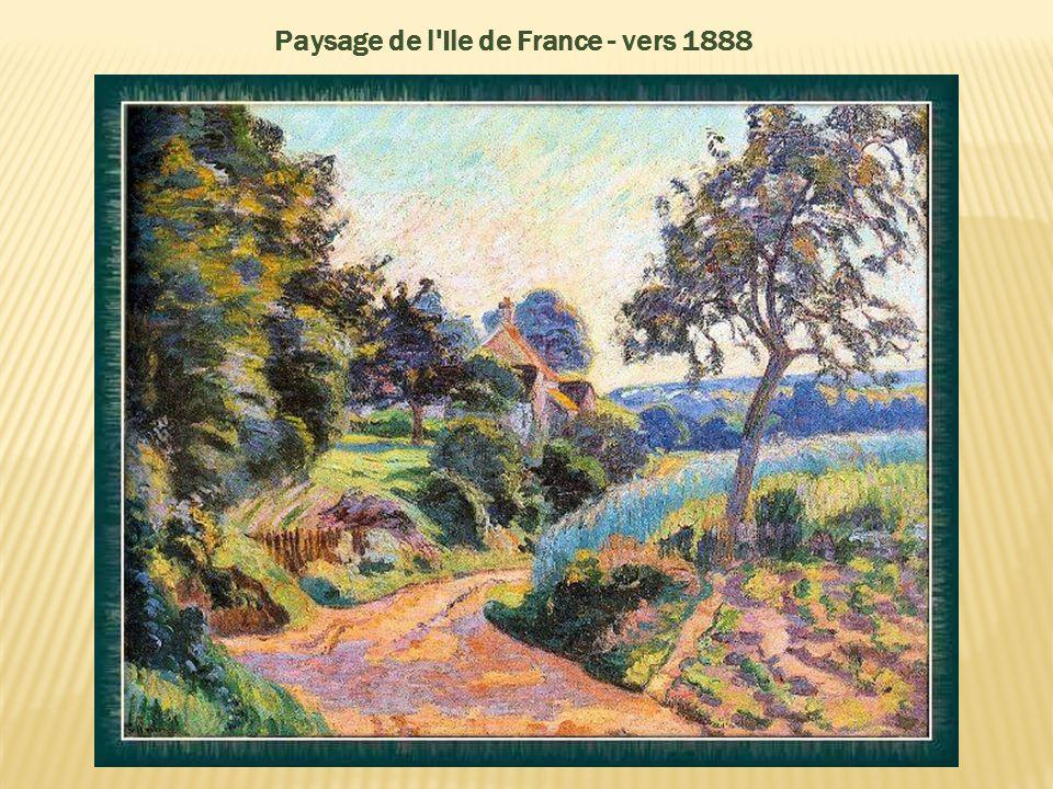Paysage de l Ile de France - vers 1888