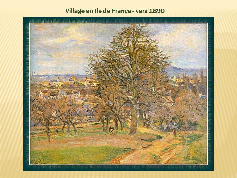 Village en Ile de France - vers 1890