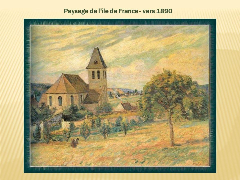 Paysage de l ile de France - vers 1890