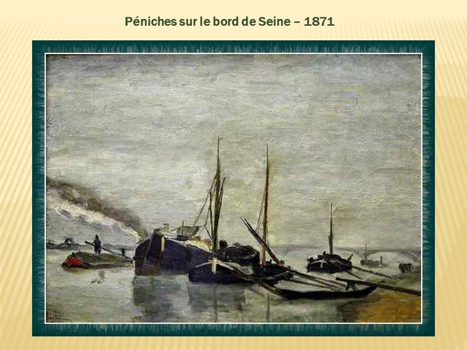 Péniches sur le bord de Seine – 1871