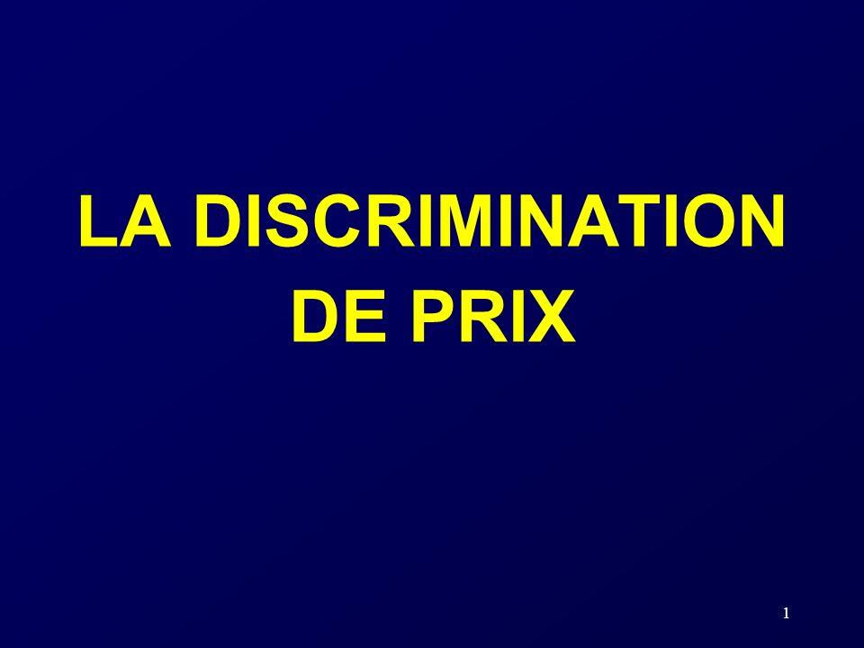 LA DISCRIMINATION DE PRIX