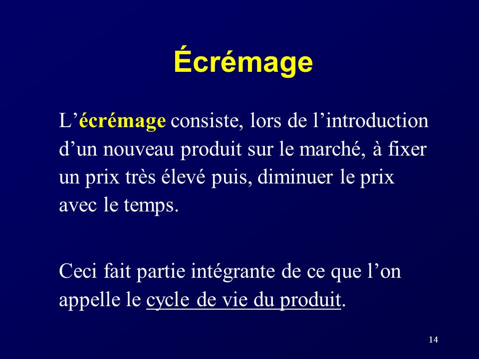 Écrémage