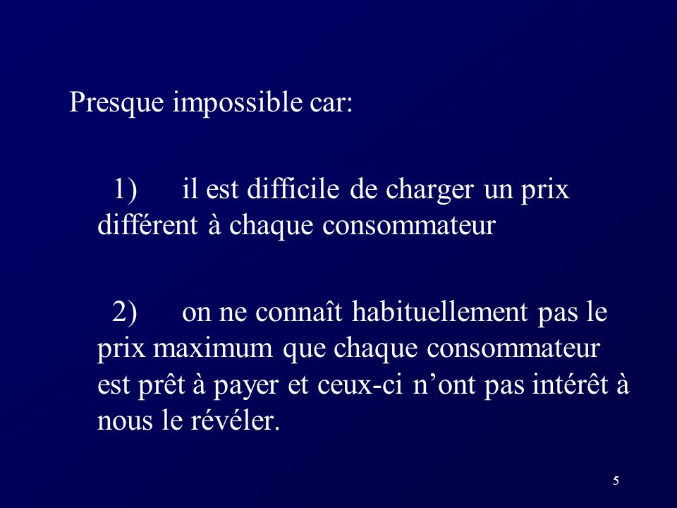 Presque impossible car: