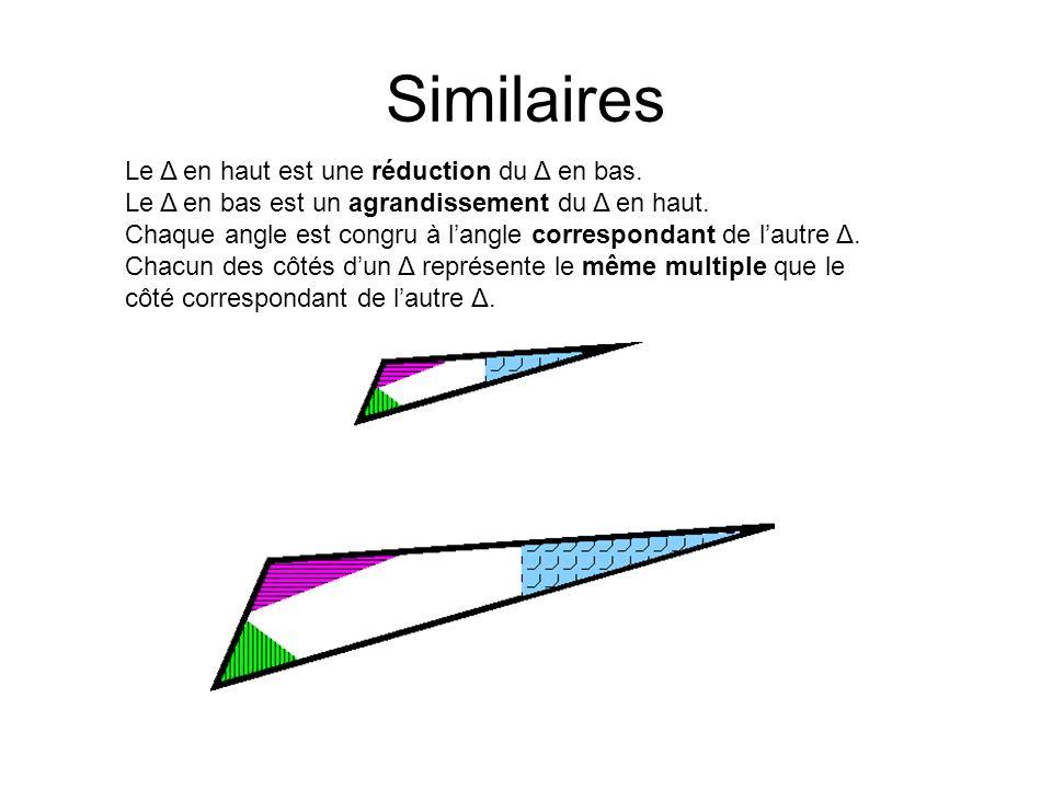 Similaires Le Δ en haut est une réduction du Δ en bas.