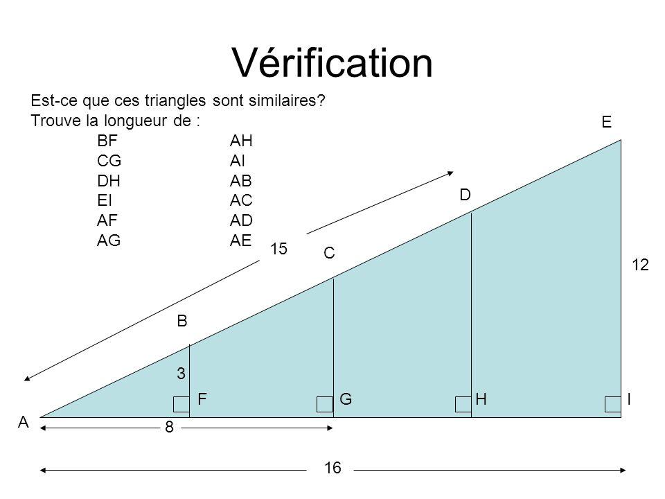 Vérification Est-ce que ces triangles sont similaires