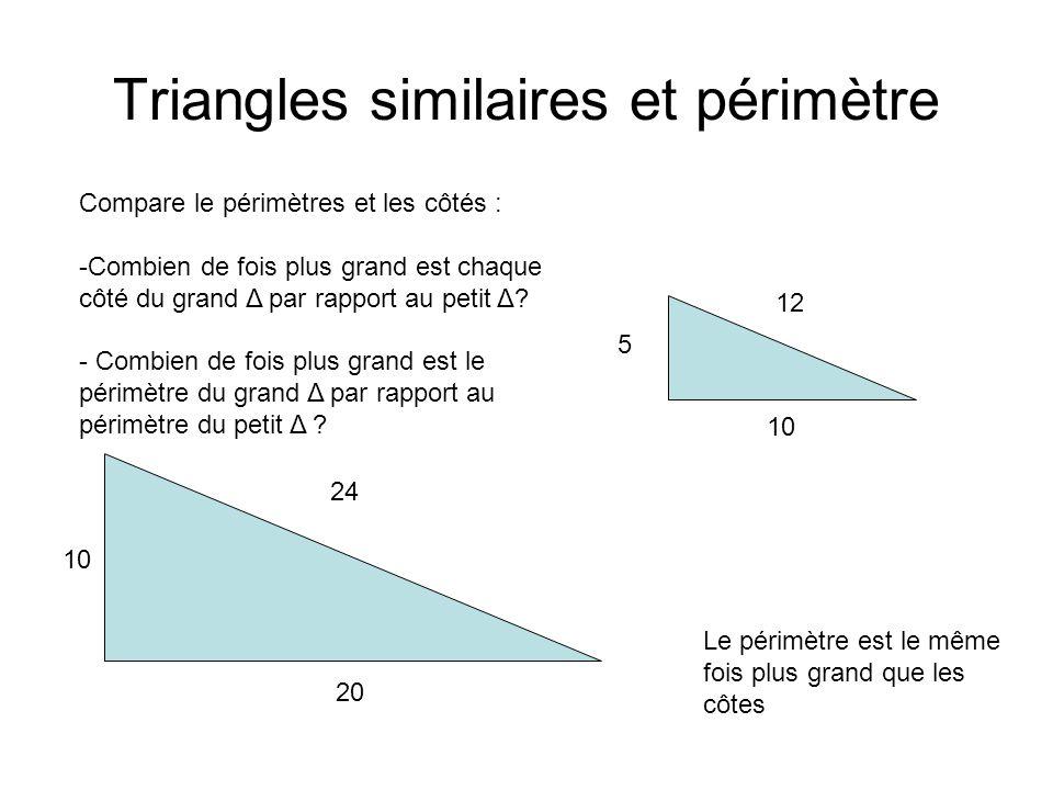 Triangles similaires et périmètre