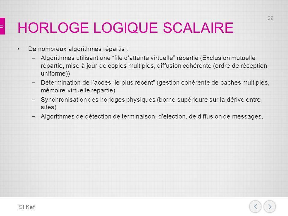 HORLOGE LOGIQUE SCALAIRE