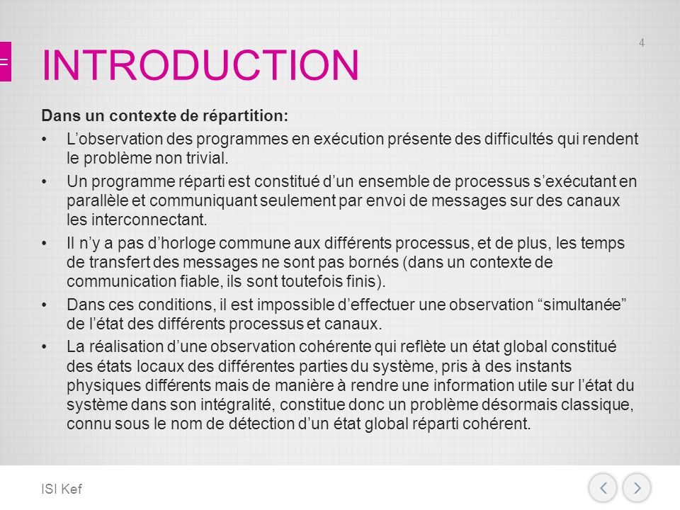 INTRODUCTION Dans un contexte de répartition: