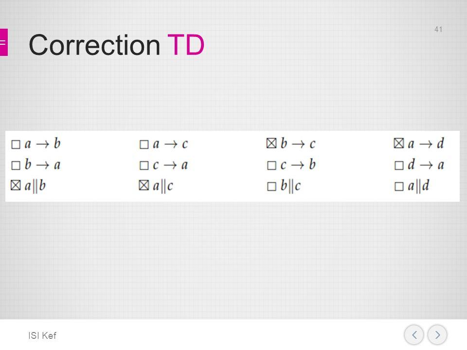 Correction TD ISI Kef