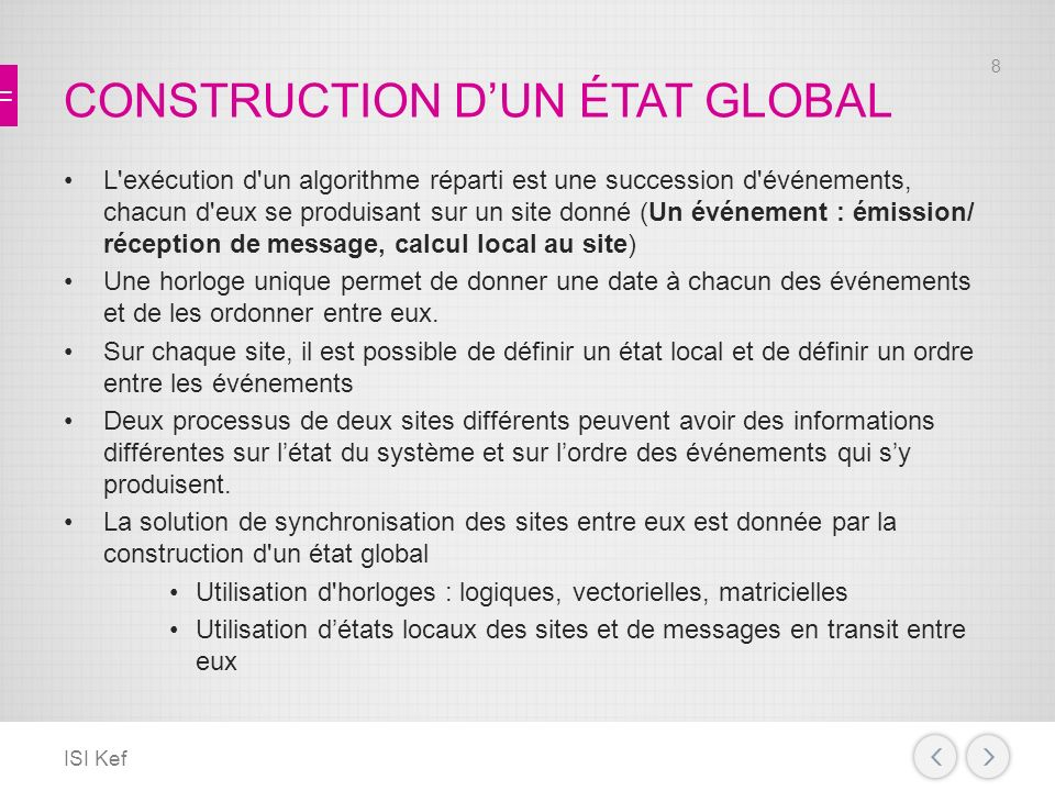 CONSTRUCTION D'UN ÉTAT GLOBAL
