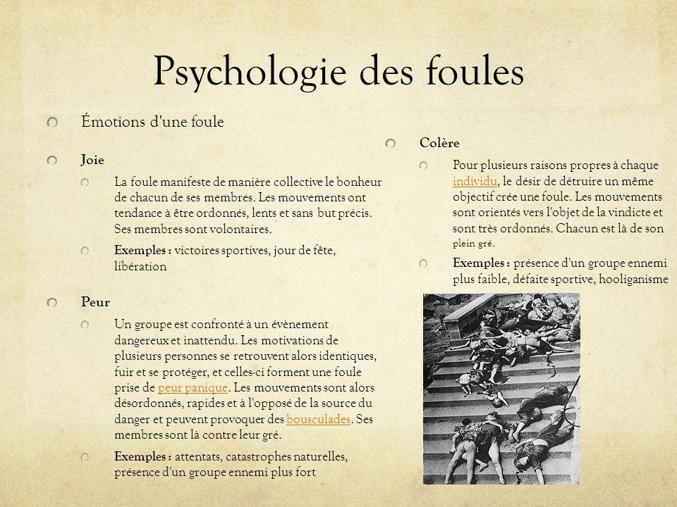Psychologie des foules