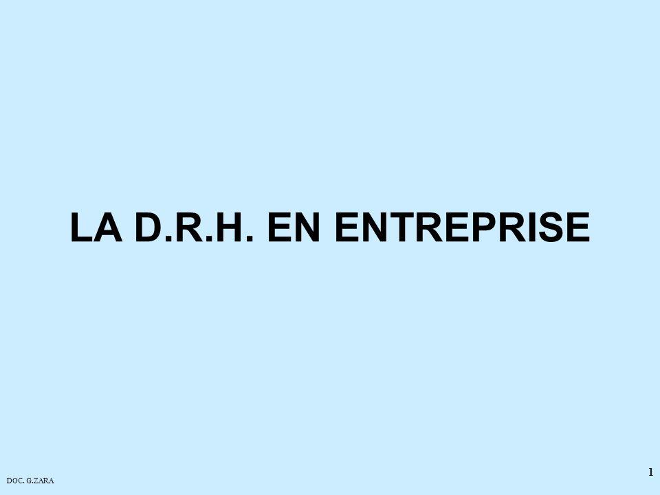 LA D.R.H. EN ENTREPRISE