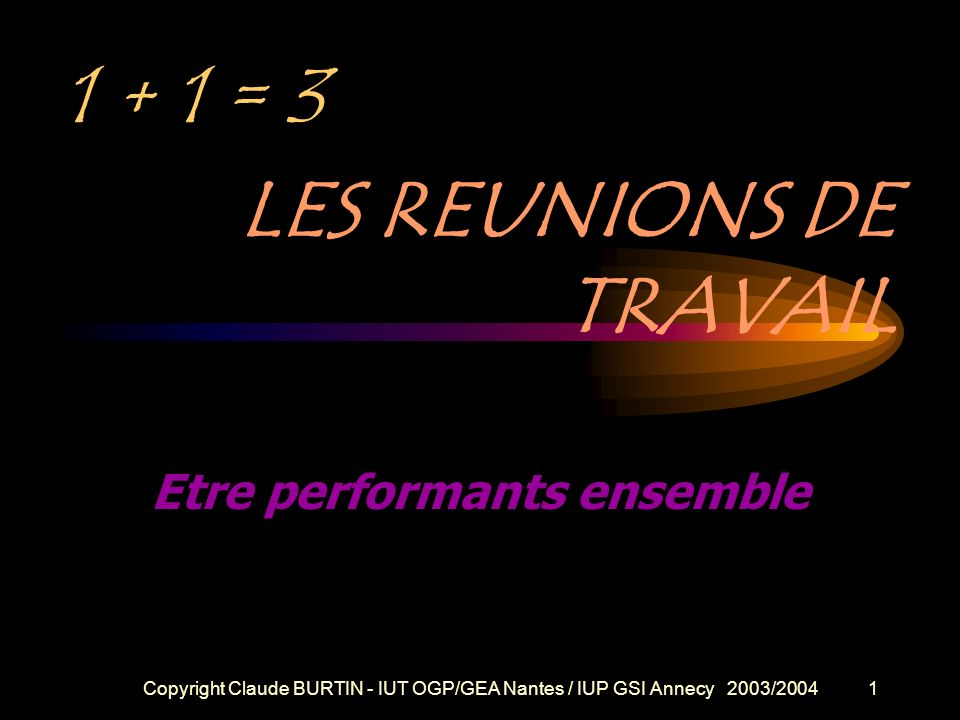 Etre performants ensemble