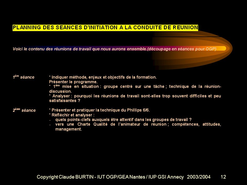 Copyright Claude BURTIN - IUT OGP/GEA Nantes / IUP GSI Annecy 2003/2004