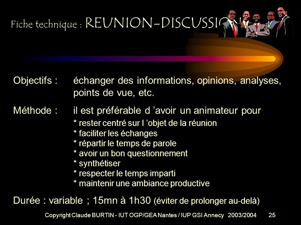 Fiche technique : REUNION-DISCUSSION