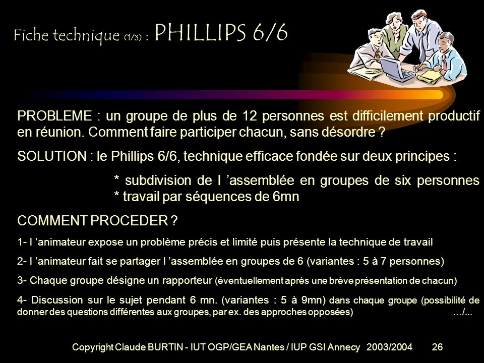 Fiche technique (1/3) : PHILLIPS 6/6