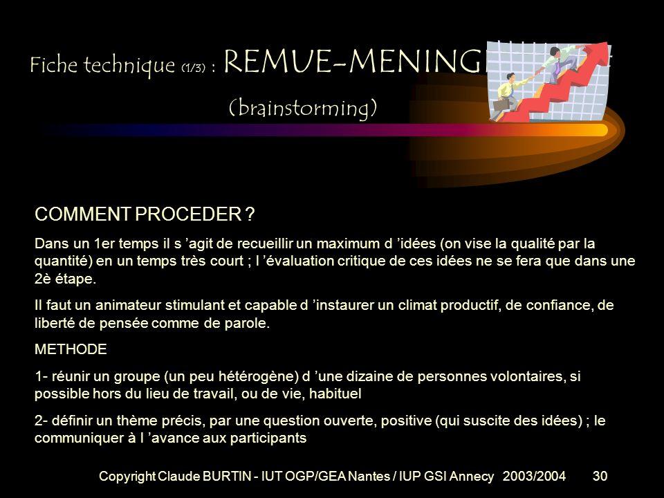 Fiche technique (1/3) : REMUE-MENINGES (brainstorming)