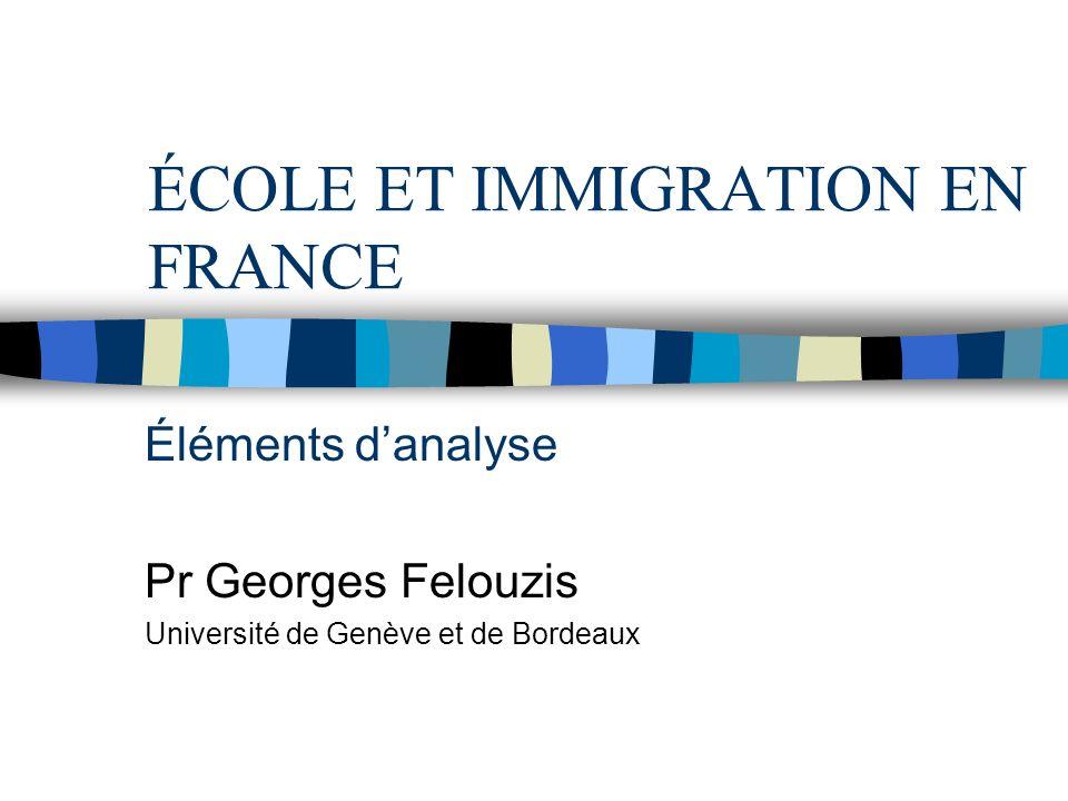 ÉCOLE ET IMMIGRATION EN FRANCE