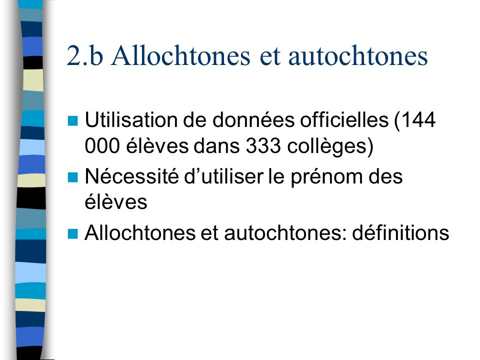 2.b Allochtones et autochtones