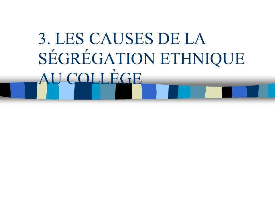 3. LES CAUSES DE LA SÉGRÉGATION ETHNIQUE AU COLLÈGE