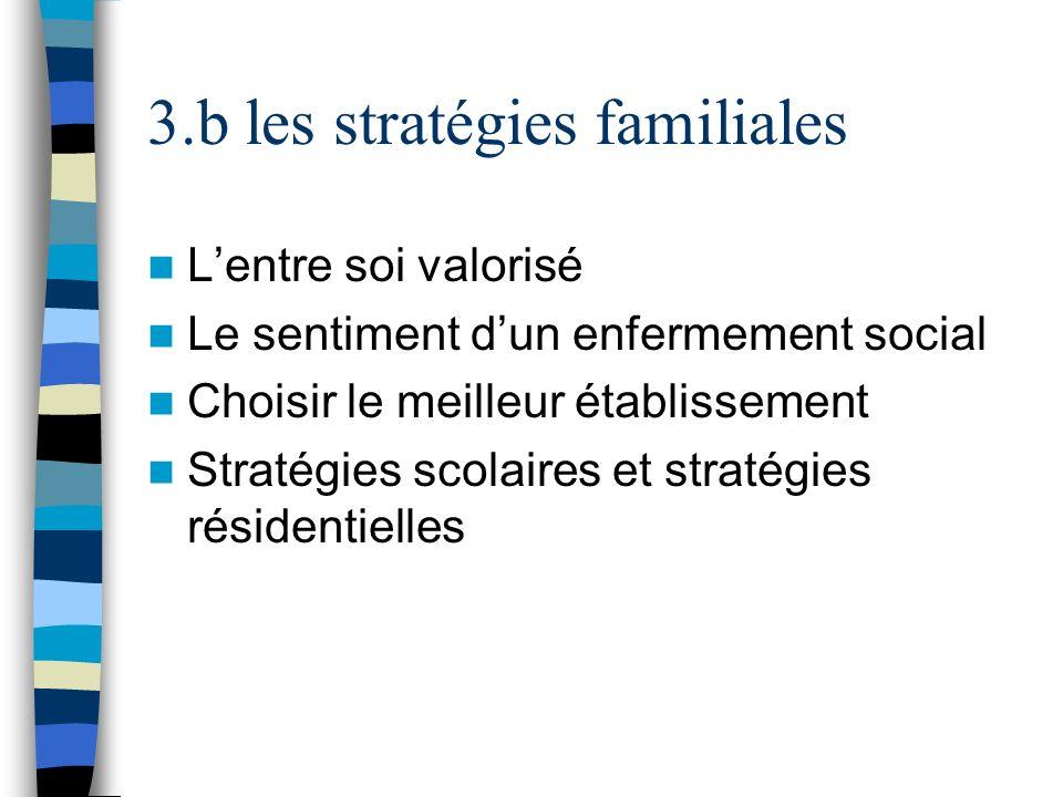 3.b les stratégies familiales