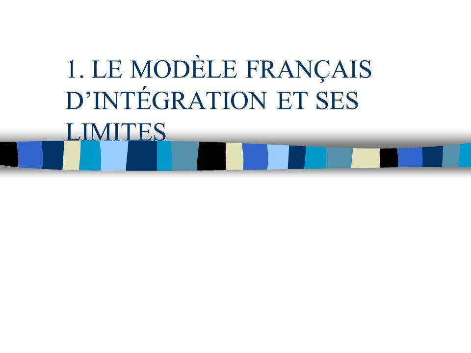 1. LE MODÈLE FRANÇAIS D'INTÉGRATION ET SES LIMITES