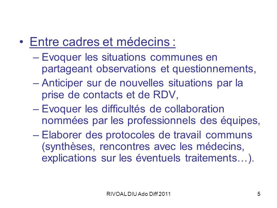 Entre cadres et médecins :