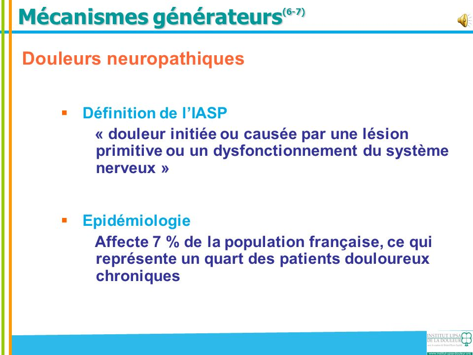 Mécanismes générateurs(6-7)