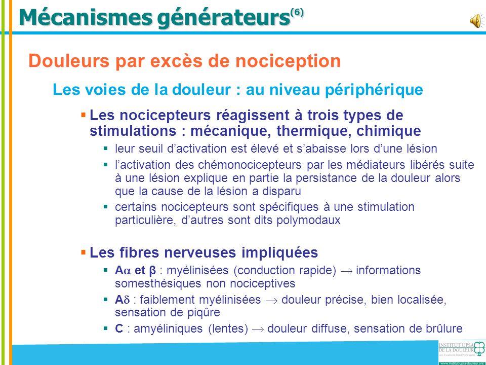 Mécanismes générateurs(6)