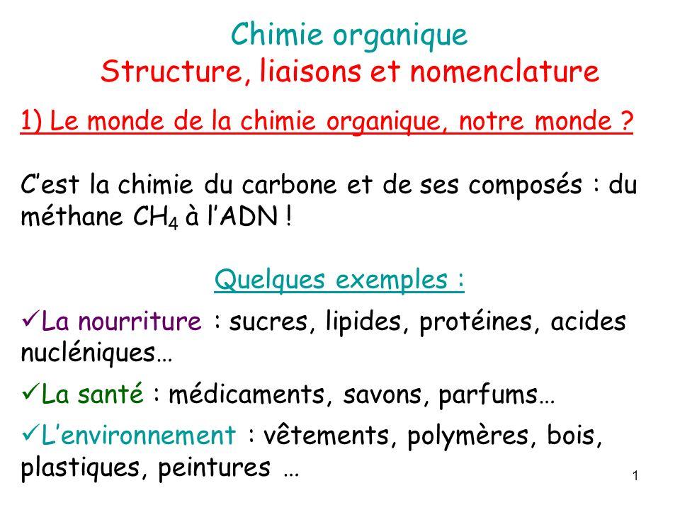 Structure, liaisons et nomenclature