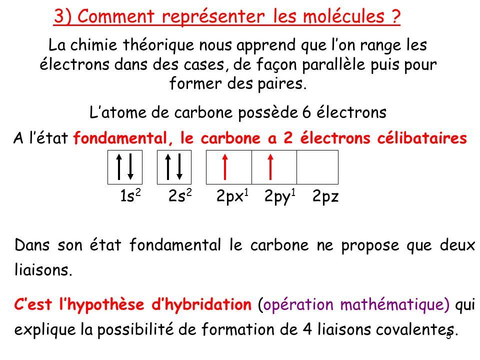 3) Comment représenter les molécules