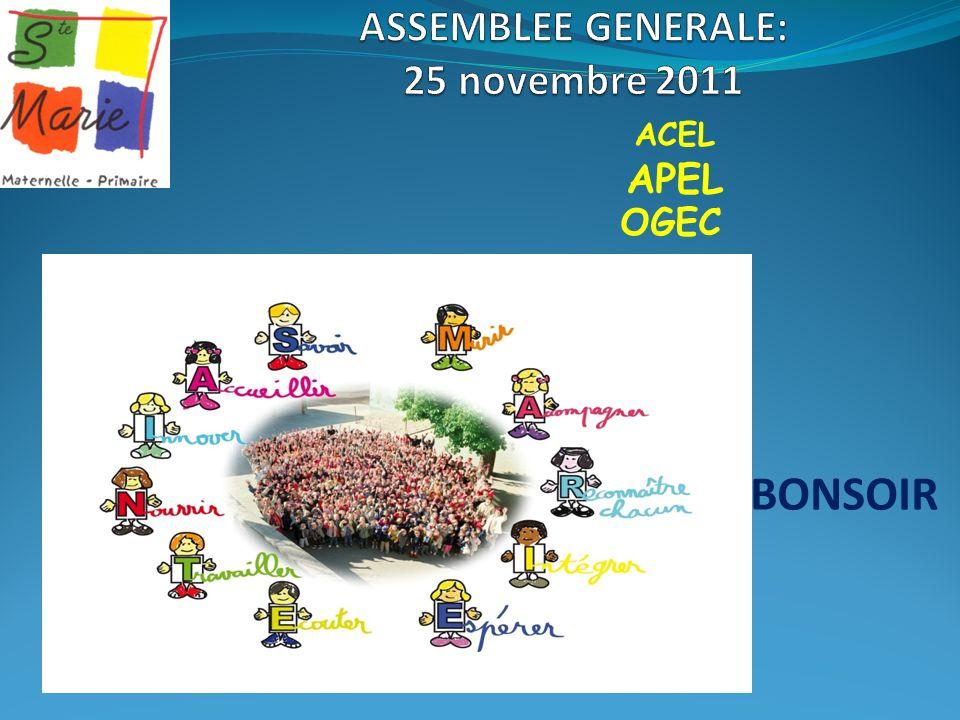 ASSEMBLEE GENERALE: 25 novembre 2011