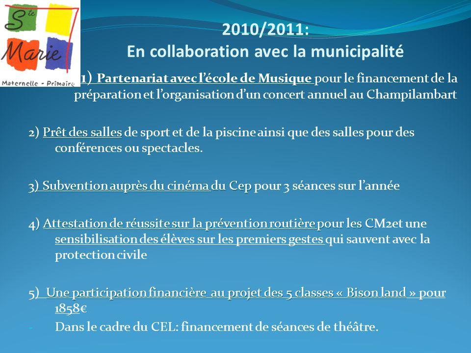 2010/2011: En collaboration avec la municipalité