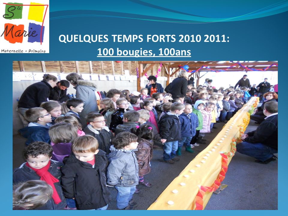 QUELQUES TEMPS FORTS 2010 2011: 100 bougies, 100ans