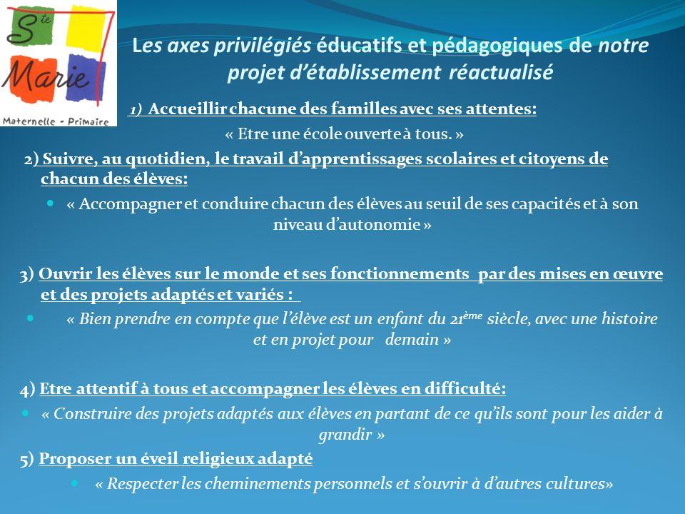 « Etre une école ouverte à tous. »