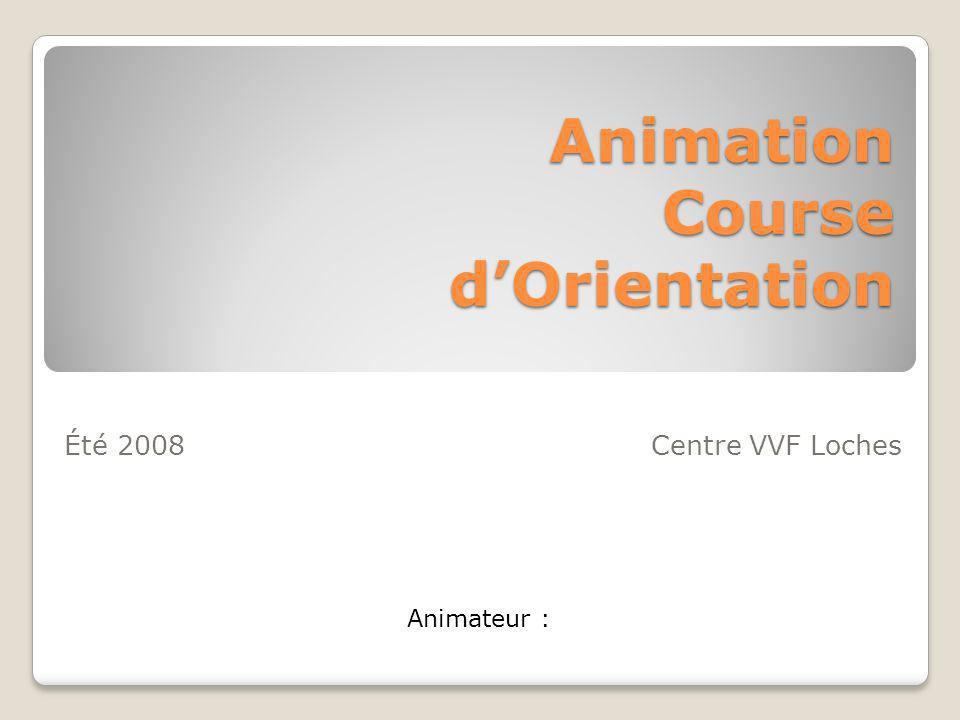 Animation Course d'Orientation