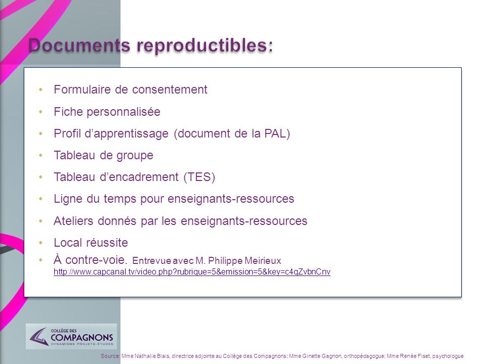 Documents reproductibles: