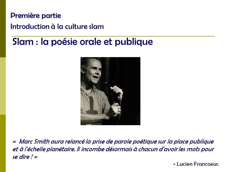 Slam : la poésie orale et publique